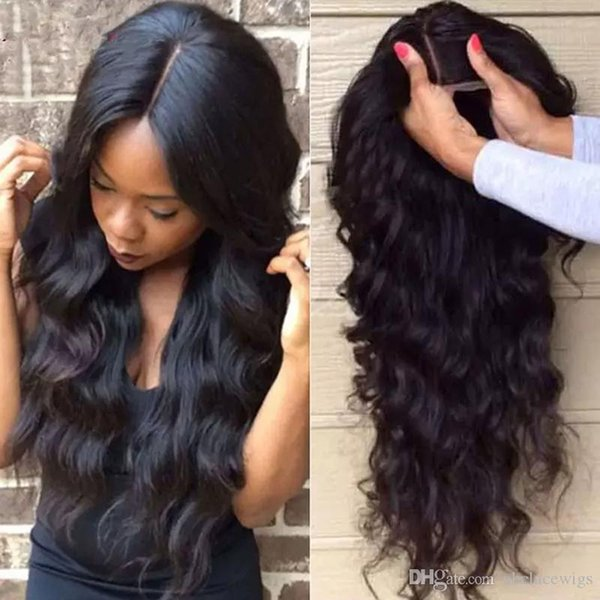 Fashion 150% Density Black Body Wave Long Wavy Full Lace Wigs High Quality Heat Resistant Glueless Synthetic Lace Front Wigs for Black Women