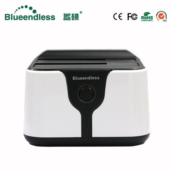 2 bay hdd docking station clone duplicator hdd box 3.5 sata to usb 3.0 hard disk case caddy plastic for 6tb sata dock