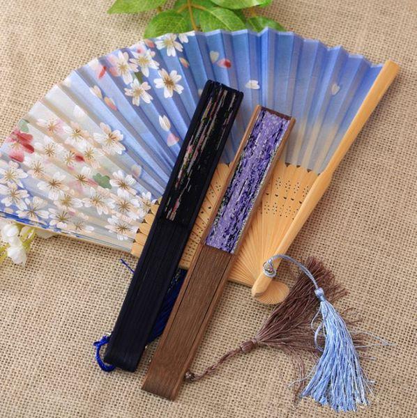 top popular New hot sale Chinese wind gift silk fan Japanese and fan Folding fan dance props T4H0230 2021