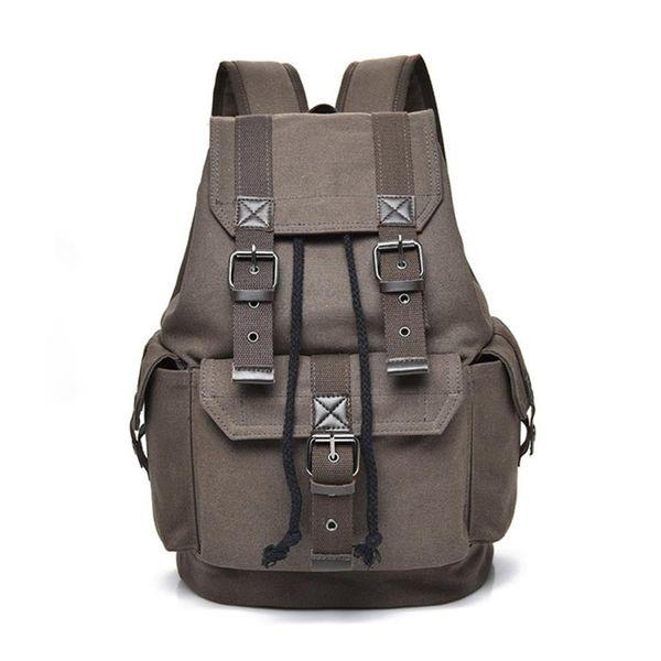 MOLAVE Backpack Unisex backpack Solid laptop Drawstring Men's Women's Travel Canvas Rucksack School Bag Apr9