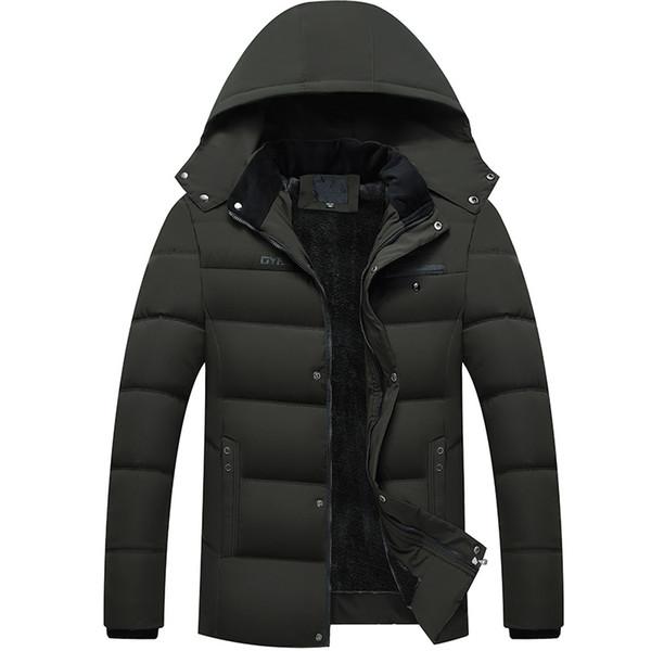 Großhandel Winter Dicke Mode Jacke Männer Schwarz Mit Kapuze Parkas Streetwear Steppjacke Samt Puffer Blase Mantel Männer Kleidung Von