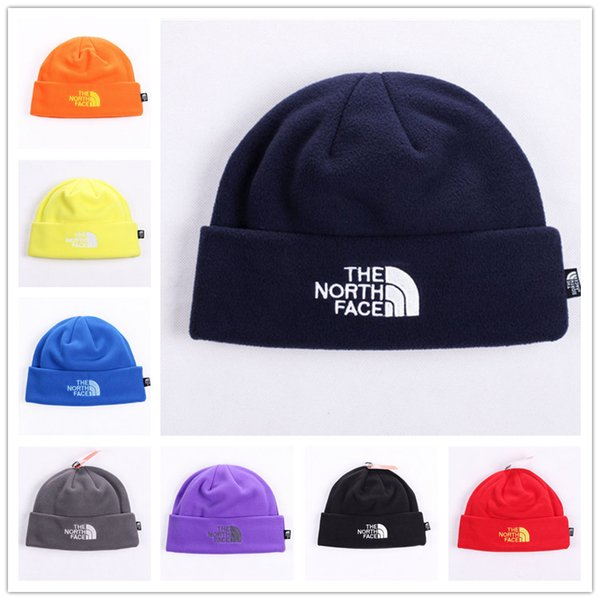 Unisex Brand Hat The North Polar Fleece Winter Beanie Skull Caps para Hombres Mujeres Esquí al aire libre Snood Sombreros Cálido Hip Hop Cap Ear Muff