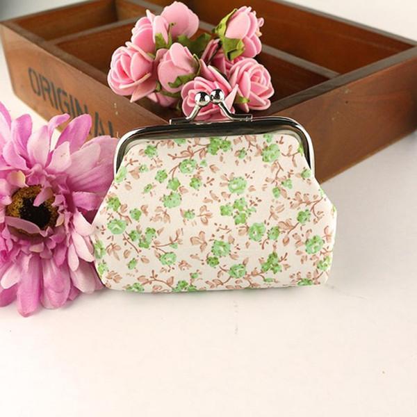Women Lady Retro Vintage Flower Small Wallet Hasp Purse Clutch Bag small flower pattern mini cluntch coin purse mini wallet