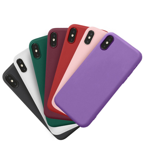 Matting Cellphone Case Soft TPU Back Cover for iPhone XS Max XR 8 7 Plus Mobile Phone Case Cindy Color
