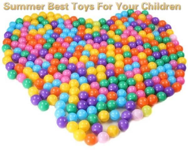 100 Pcs Colorful Phthalate Free PBA Free Crush Proof Plastic Ball Pit Balls for Kids, Many Colors in Reusable Storage Bag 2.17 Inch