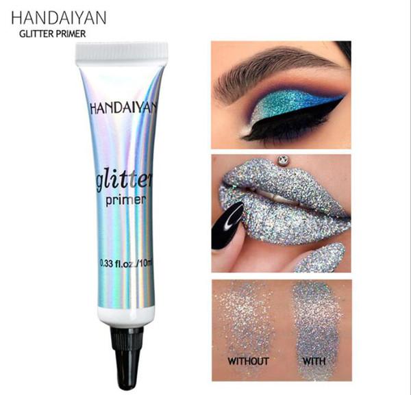 Nova HANDAIYAN Glitter Primer Lantejoulas Primer Creme De Maquiagem Dos Olhos À Prova D 'Água Lantejoula Glitter Eyeshadow Glue Coreano Cosméticos Creme Corretivo Base
