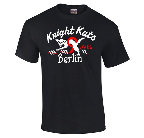 Knight Kats Berlin Vintage Luftwaffe Pilots Motorcycle Club T-Shirt Sizes S-5XL