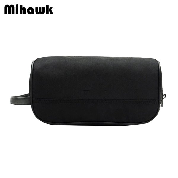 Mihawk Black Unisex Toiletry Bag Lipstick Beautician Makeup Storage Wash Pouch Beauty Case Make Up Cosmetic Zipper Tote Supplies