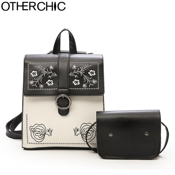 OTHERCHIC Brand 2pcs/set Floral Backpack Women Fashion Women Backpacks Cute Knapsack Teenage Girls Drop Shipping 8N0416