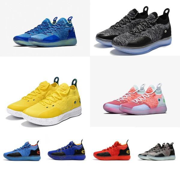 Baratas Nike Kd Xi 11 Amarillo Negro Azul Zapatillas Basket