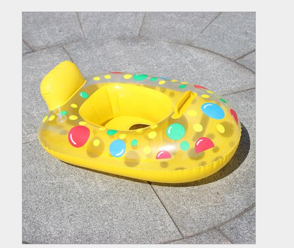 top popular Paddle water inflatable baby yacht, water carriage, baby swimming circle, children's seat, inflatable swimming circle. 2020