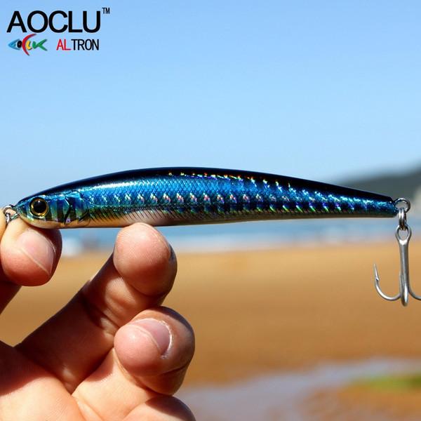 AOCLU wobblers Super Quality 2 Colors 9cm 28.3g Hard Bait Minnow Crank Fishing lures Bass Fresh Salt water 6# VMC hooks Y18100806