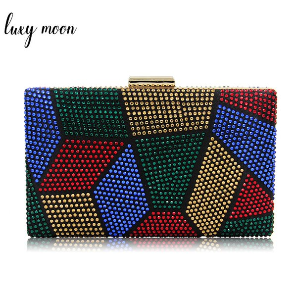 Luxury Multicolour Rhinestone Evening Bags For Women Day Clutches Party Wedding Purse Shoulder Bag Handbags Banquet Clutch Bags