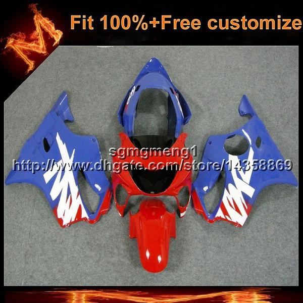 Cobertor rojo azul de la motocicleta del molde de la inyección 23colors + 8Gifts para Honda 00 CBR600F4 1999-2000 F4 99 00 CBR 600 Fairing plástico del ABS