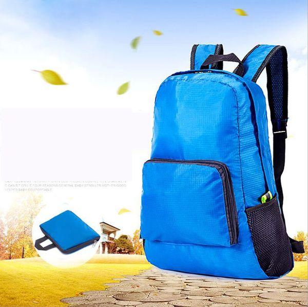 best selling Factory Wholesale Portable Fashion Casual Travel Backpacks Zipper Soild Nylon Back Pack Daily Traveling Women Men Shoulder Bags Folding Bag