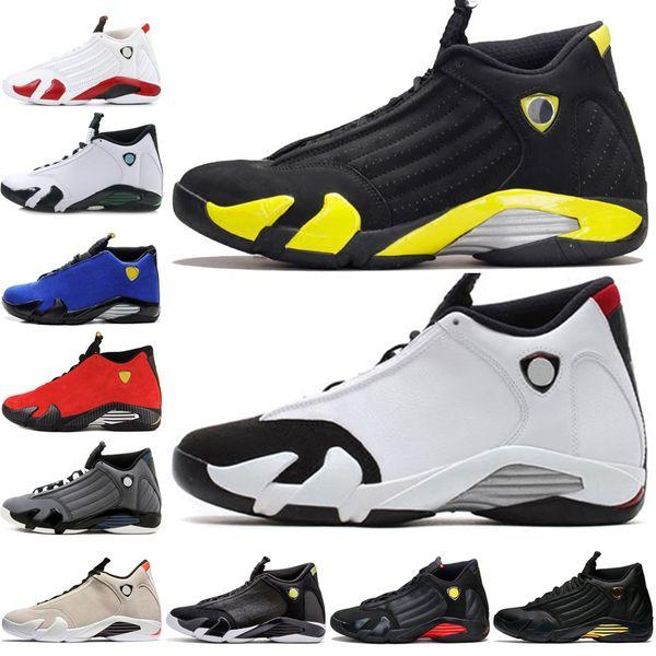 ab3345e2872eb7 Wholesale 14 14s mens Basketball Shoes Desert Sand DMP Last Shot Indiglo  Thunder Blue Suede Oxidized Black Toe men Sports Sneakers designer