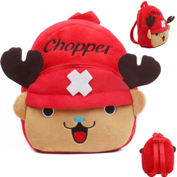 23 * 21 CM Chopper 2017 Niños Juguetes de Dibujos Animados Lindo Niños Mochilas Mochila Niñas Niños Niños Mochila Mochila 23 * 21 CM
