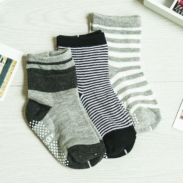 6 пар милый нескользящий малыш для малышей с противоскользящими полосками и звездами с принтом носки