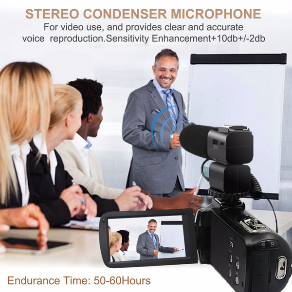 Professional Interview Condenser Microphone for DV & DSLR Camera Camcorder