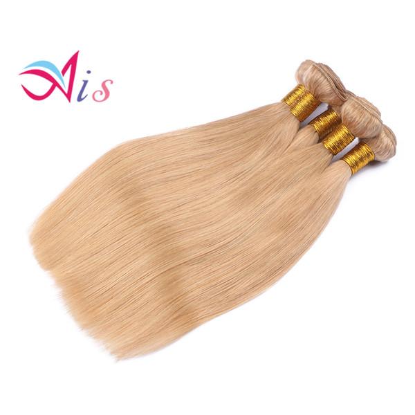 Cheap #27 Honey Blonde Brazilian Body Wave Virgin Hair Extensions 3Pcs Lot Honey Blonde Remy Human Hair Weave Weft 3 Bundle Deals