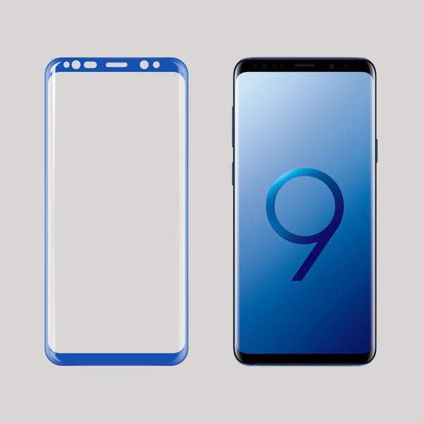 E-SKY 3PCS Vetro temperato pieno curvo per Samsung S9 Glass per Samsung Galaxy S9 Plus Occhiali S8 Note 8 Screen Protector S7dege