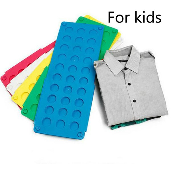 Details about US Small size Laundry kid Magic Fast Speed Folder Clothes T-Shirt Fold Board Random Color