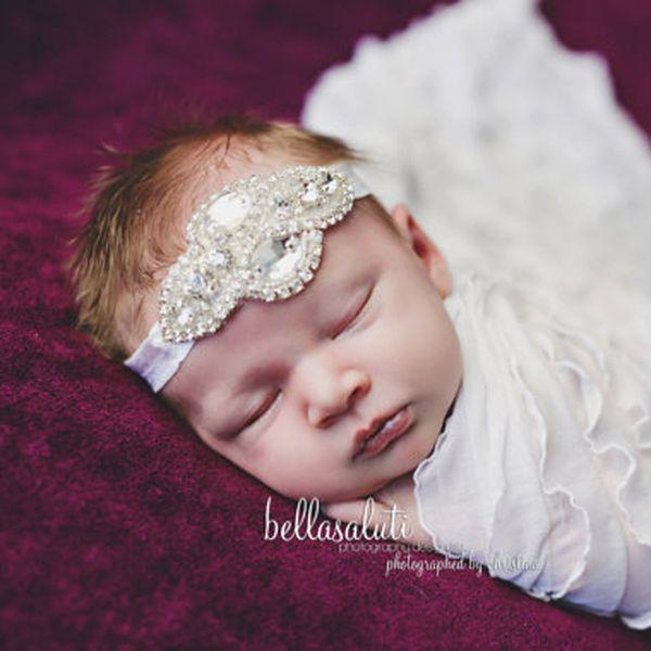 3589c34e6f294 Lace Baby Headband Chic Lace Flower Princess Girls Newborn Infant Toddler  Headwear Hair Bow Headdress Children