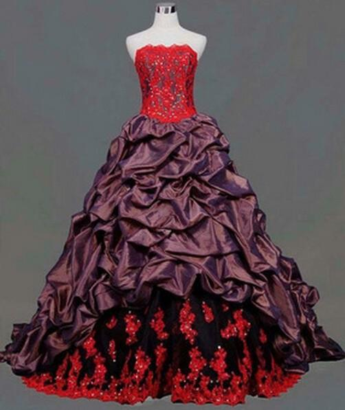 free shipping 2018 design handmade red appliques beading floor length lace up custom size/color party ball gown long prom dress