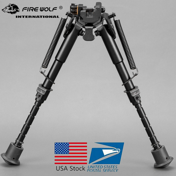 6-9 inch bipod High Shockproof Swivel Tilting Bipod with QD Mount Hunting Stand with bipod adapter