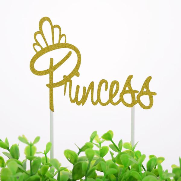 Kuchen-Deckel-Flaggen-Kuchen-Prinzessin Queen Girl Toppers Braut-Kindergeburtstags-Hochzeits-Brautkuchen-Verpackungs-Partei, die DIY-Flagge backen