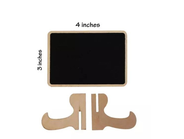 Holz Mini Tafel Tischkarten Halter Hochzeit Namen Karten mit Staffelei stehen für Hochzeit, Geburtstagsfeier, Tischnummern, Essen Zeichen