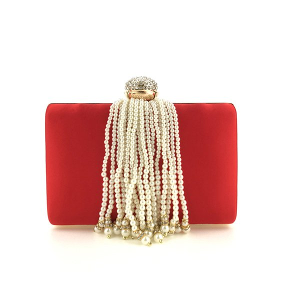 Manufacturers Sell Direct Selling, Amazon, Fast Selling, Hand Held Banquet, Handmade Beads, Tassels, Pearl Fashion Women's Bags.