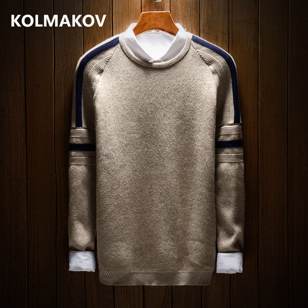 2018 new men's knitting sweater casual mens autumn knitted sweaters man slim fit thermal pullovers knitwear man plus size m-2xl thumbnail