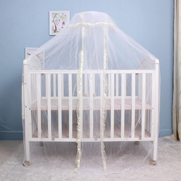 Portable Infant Baby Crib Netting Bed Tents Elegant Baby Infant Round Dome Lace Floor Type Crib Netting For Bed