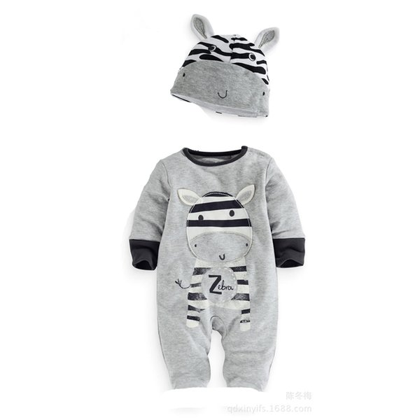 long sleeve cow baby boys rompers kids newborn bodysuits grey solid children sleepwear baby girls jumpsuits outfits infant toddler new style