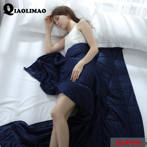 American Style Weighted Decke 100% Baumwolle Dekompression Quilt Einfarbig Belastete Abdeckung Entlastung Catigue und Verbesserung des Schlafes