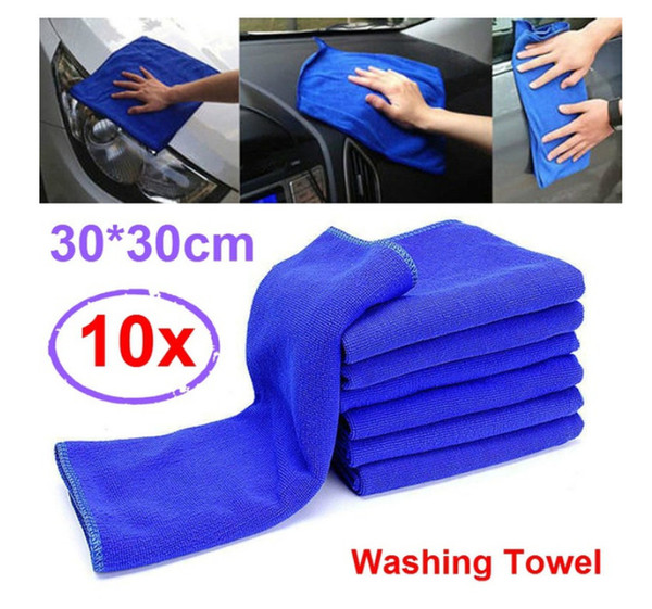 best selling Washing Towel Car Large Microfiber Blue Cleaning Auto Car Cloth Kitchen Washing Polish Set 12inch atp041