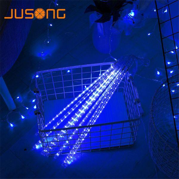 JUSONG Led 30 CM 50 CM Meteorschauer Regen Rohr SMD Girlande Weihnachtsbaum Navidad Dekorative Weihnachten Outdoor Lichterketten String