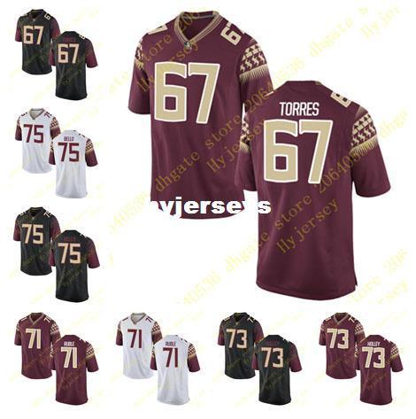 size 40 1c418 f8dc4 Cheap Mens Andrew Boselli Adam Torres Jersey Brock Ruble Caleb Holley  Stitched Black White Florida State Seminoles College Football Jersey N UK  2019 ...