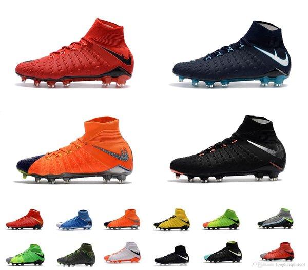 2018 Free Shipping Top Quality Football Boots Original 3D Hypervenom Phantom III DF FG Soccer Shoes Mens Outdoor Soccer Cleats Online