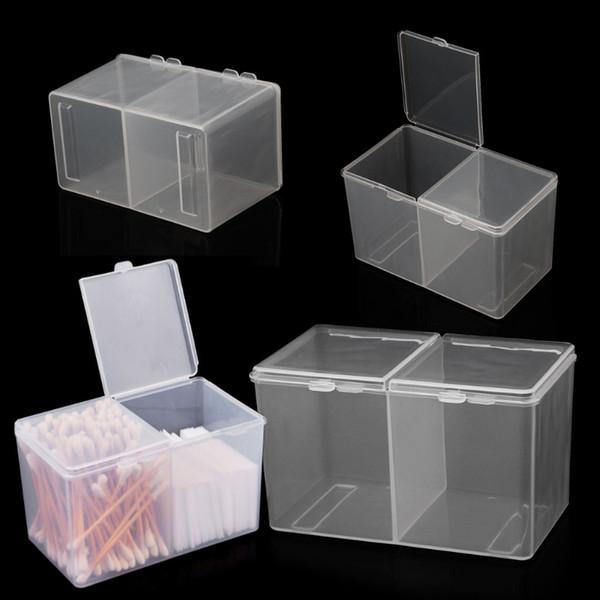 Removedor de papel Maquillaje de algodón Almohadilla de almacenamiento Rhinestone accesorio para tatuaje Nail Art Tools Container