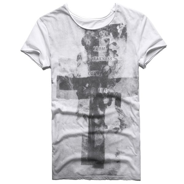 Summer T -Shirt Cotton Men New Printed T Shirt Short Sleeve Vintage Cross Character Famous Brand Men Clothing Hip Hop Tops