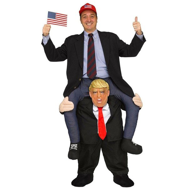 Halloween Mascot Costume Ride on Donald Trump Costumes Adult Animal Dress Fancy Pants Costume
