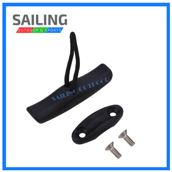 Relefree Outdoor Universal Nylon Kayak Toggle Handle Boat Carrier with Cord Rope Water Sports Canoe Boat Accessory Black