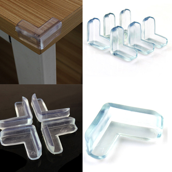 4Pcs/set Child Baby Safety Transparent Silicone Protector Table Corner Protection Cover Anticollision Edge Corner Guards
