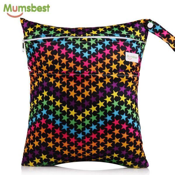 Mix 3 Pcs Quick Drying Washable Reusable Cloth Nappy Wet Waterproof Swim Sport Travel Carry Diaper Bag Wholesale Big Size:36X30cm