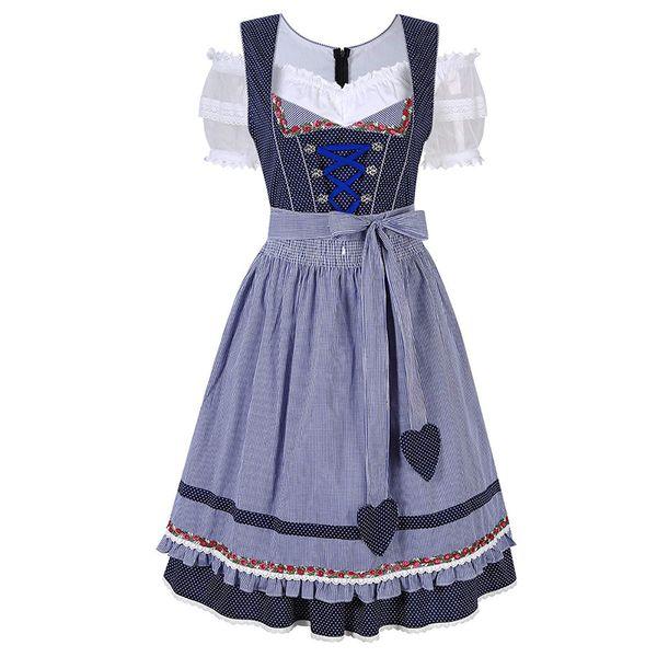 Fashion Cosplay Costume Oktoberfest Beer Maid Dress Women Germany Bavarian Wench Halloween Costumes for Women Dirndl Fancy Dress