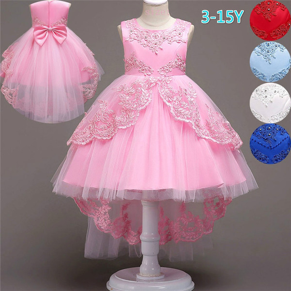 8879e40293d46 2019 Fashion Girls Kids Embroidery Party Dress Children Evening Dresses  Gowns Ball Gown Prom Dresses For 3 15 Years From Beautymove, $20.14 | ...