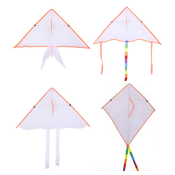50 pc mix whole ale 4 tyle diy painting colorful flying foldable outdoor beach kite children kid port funny toy