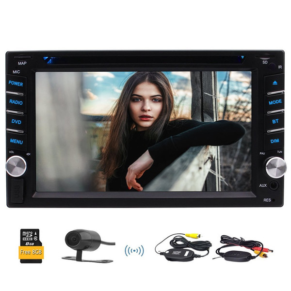 "Eincar 6.2""Double Din Wince Bluetooth,DVD/CD/MP3/USB/SD AM/FM/RDS Car dvd Stereo,Wireless Remote,Wireless Rear Camera"